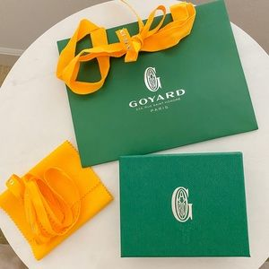 Authentic Goyard cardholder gift box and bag set
